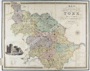 Historic map of the West Riding of Yorkshire 1834